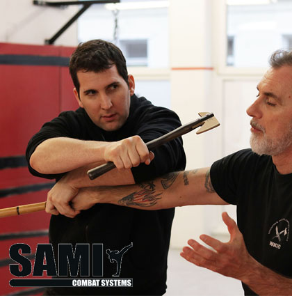 Axe Fighting seminar at HQ